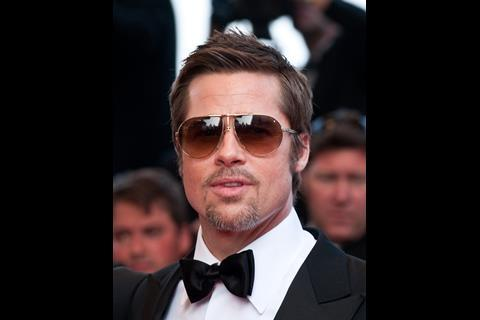 """Actor Brad Pitt arrives at the premiere of """"Inglorious Basterds"""" at the 62nd Cannes Film Festival in Cannes."""